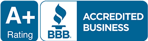 A+ Rating Better Business Bureau Accredited logo