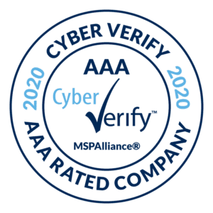 MSPAlliance Cyber Verify seal - AAA rated company