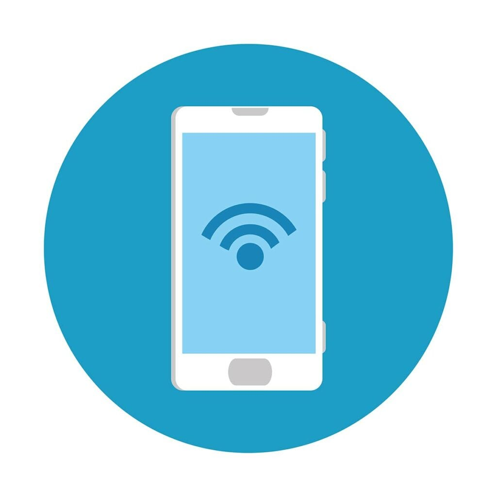 Wifi icon on mobile device
