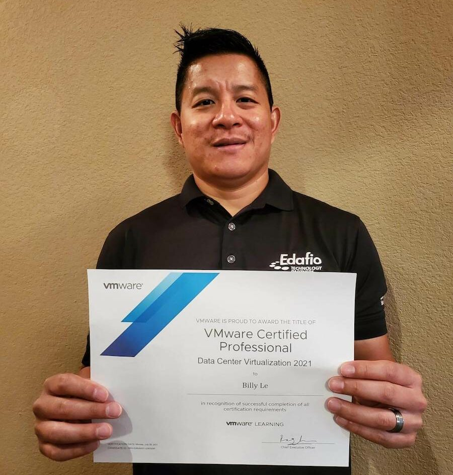 received the VMware Professional certification