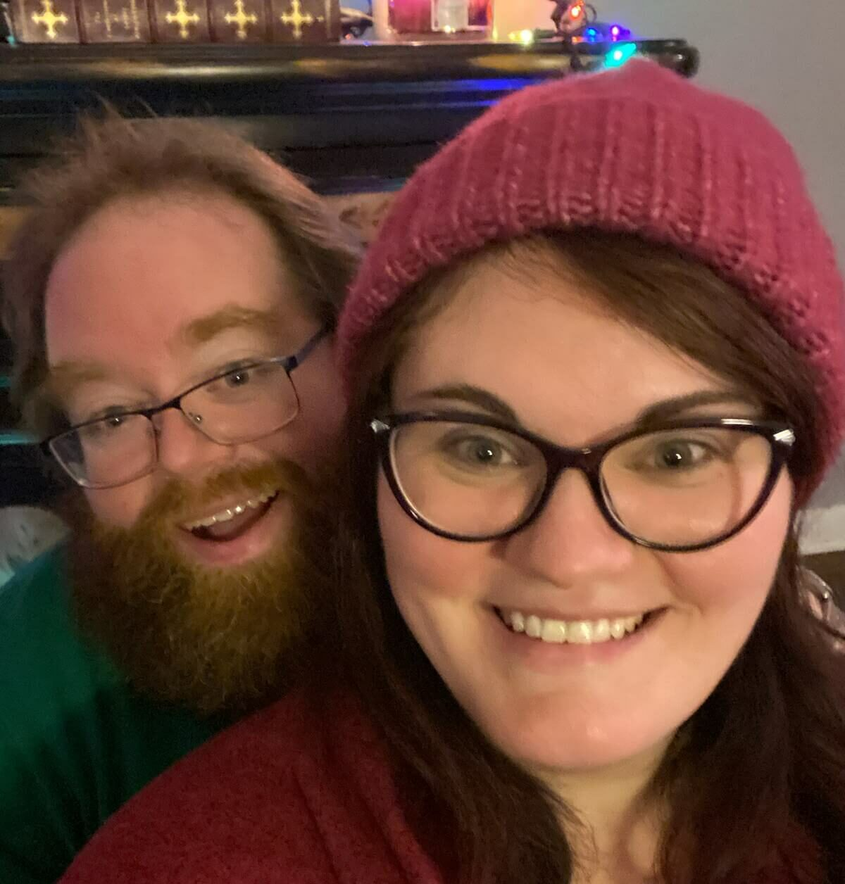 A picture of Justin Hicks, network operations engineer with his wife